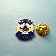Masonic 2b1 Ask1 Master Mason Lapel Pin White Blue