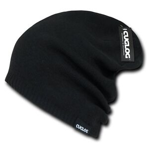 b09a99d0 Details about Black Knit Skull Winter Ski Warm Long Baggy Acrylic Beanie  Beanies Cap Hat Hats