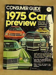 vintage consumer guide car preview 1975 auto series automobile rh ebay com Auto Loan Auto Loan