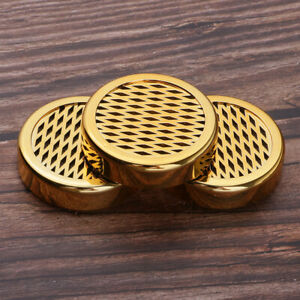 Tobacco-Cigar-Humidifier-Box-Round-Humidor-amp-Tape-for-Cigar-Storage-Case-Gold