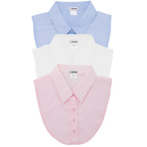 IGotCollared Set of 3 Dickey Collars in Light Blue, White, Pink