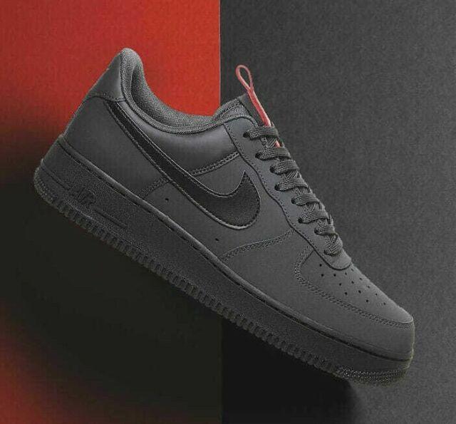 Neu Nike Air Force 1 '07 Anthracite Black BQ4326 001 Men's