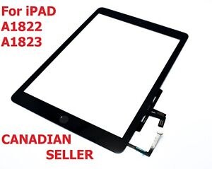 Black-iPad-Air-2017-A1822-A1823-Touch-Screen-Digitizer-Assembly-W-Home-Button