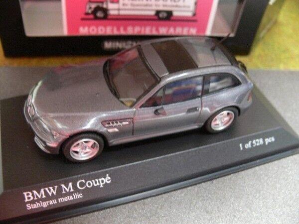 Minichamps BMW M Coupe 2002 ACCIAIO gris METALLIZZATO 400 029064