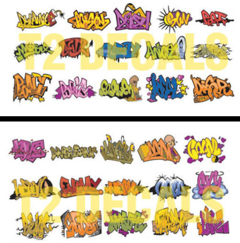 N Scale Graffiti 2-Pack #1- Weather Your Box Cars, Hoppers, & Gondolas! SAVE $2!