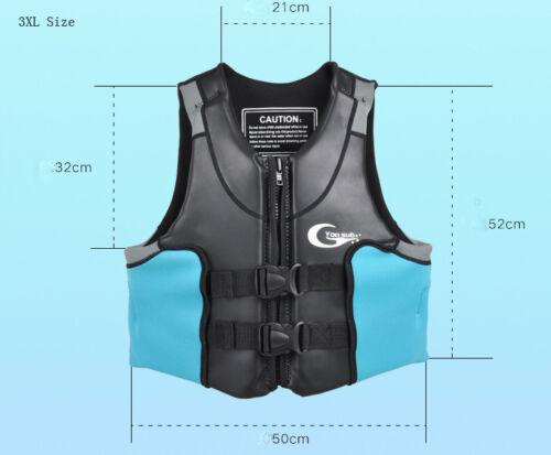 Men Women Neoprene Buoyancy Life Jacket Floating Snorkel Surfing Life Save Vest
