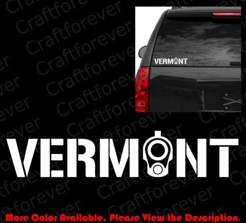 VERMONT COLT 1911 Barrel Sticker Car Windows Decal Vinyl 2A CCW Gun Rights FA040