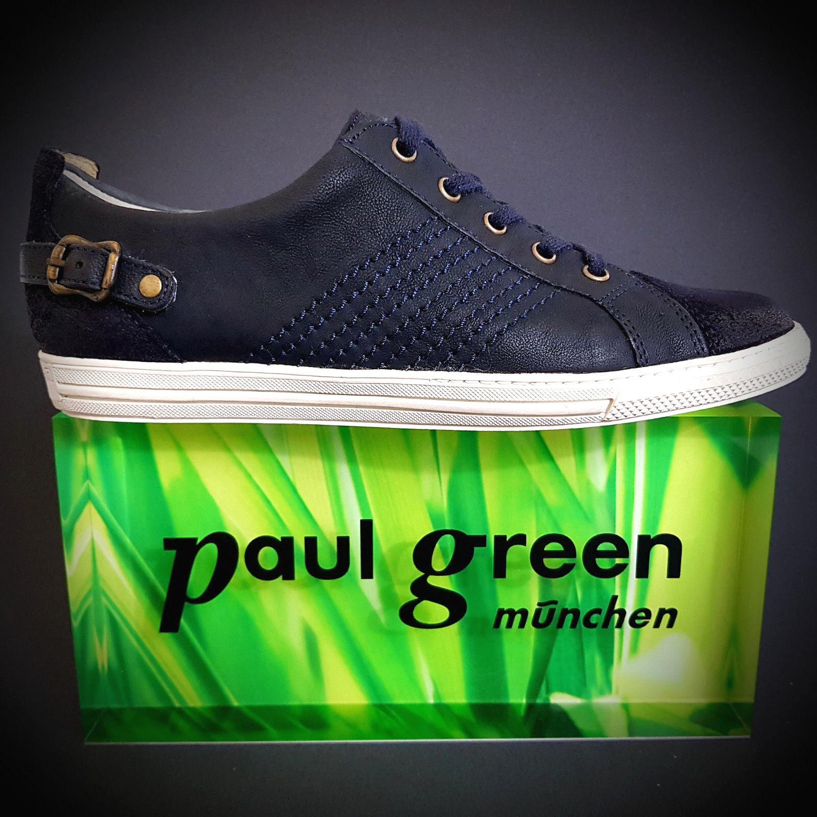 Paul Green Sneaker Ocean Donna Scarpe normalissime Nuovo Pelle Ocean Sneaker Blu Paulis 2ba3c1