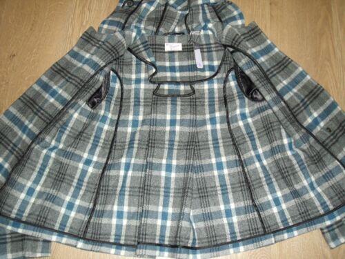 Mit Kapuze S Kariert Grau Original Penguin Damen Blau Jacke Shorts Wolle Mädchen 54ALRj3