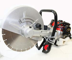 2-Stroke-Gas-Power-Handheld-14-034-Cement-Wet-Dry-Masonry-Concrete-Cut-Saw-W-Blade