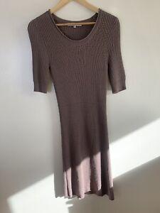 Beautiful-L-K-Bennett-Brown-Knit-Jumper-Dress-Medium