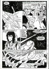 1985 ROBOTECH MASTERS #3 ORIGINAL COMIC ART PAGE NEIL VOKES OUTER SPACE CLASSIC