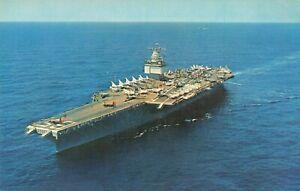 Aircraft Carrier USS Enterprise Gulf of Tonkin Ship Postcard Military Planes