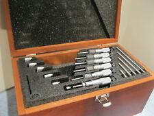 Starrett T226rl Micrometer Set Withstandards 0 6 Steel Tips 0001 No Engravings