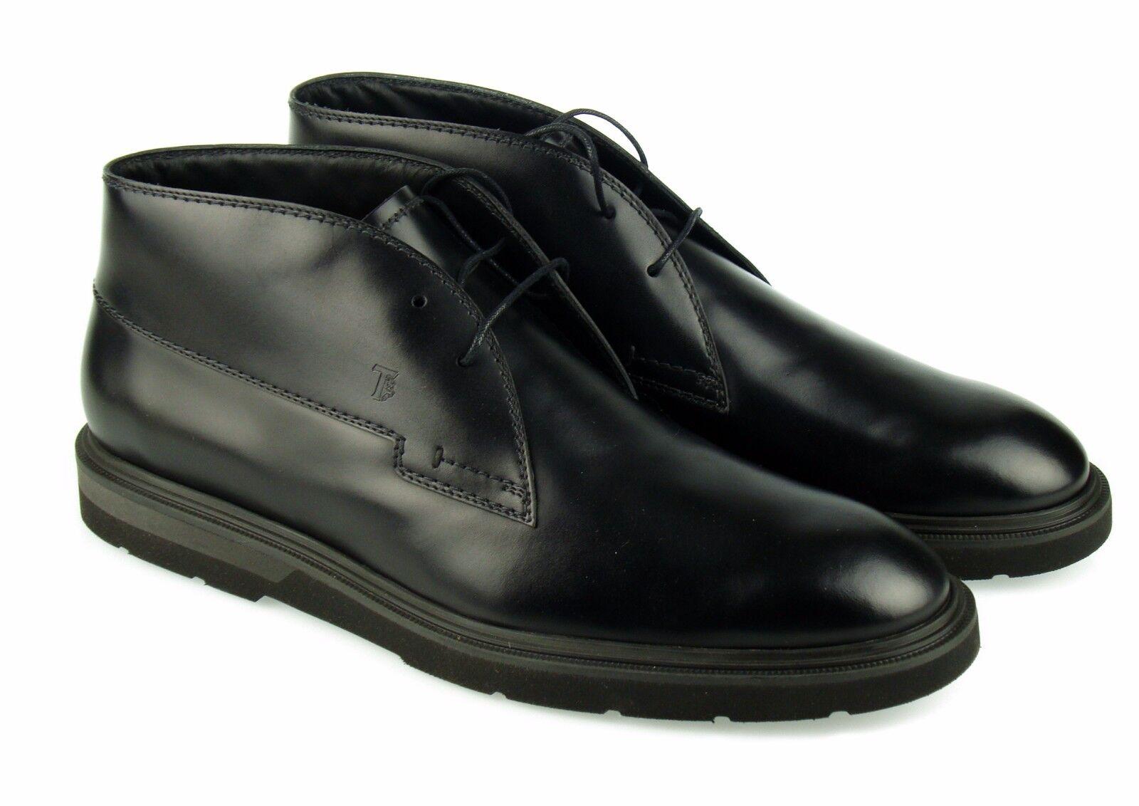 TOD'S Lacets Bottes Chaussures Homme Hi Top Cuir 100% AUTENTICH