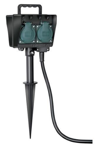 Graver chaise de distribution d/'alimentation électrique jardin-Prise de courant Piquet 4 positions 10 m extérieur