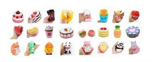 USA SELLER WHOLESALE SET OF 20 Squishy Toys Scented Slow Rise FRUIT ANIMAL CAKE