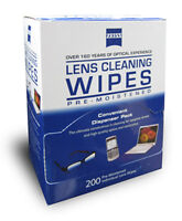 Zeiss Lens Cleaner Glasses Cloth Wipes Packets 200ct