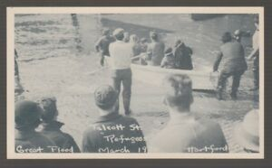 B67994-1936-POSTCARD-GREAT-FLOOD-TALCOTT-STREET-HARTFORD-CONN-MARCH-1936