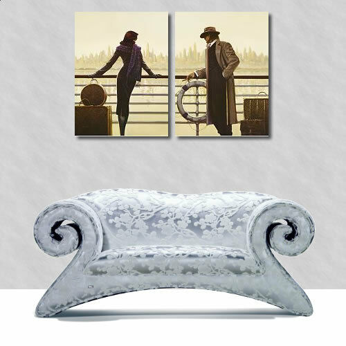 Brent Lynch Pier 56 Wedge Frame Picture Canvas Pair Port Vessel Cult