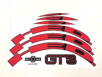 rim Jet//HED.3 one piece HED.3 Wheel Decal//Sticker Set of 12 RED For 40mm