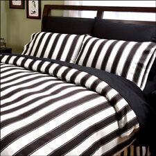 Sin In Linen Black & White Striped Duvet Cover TWIN