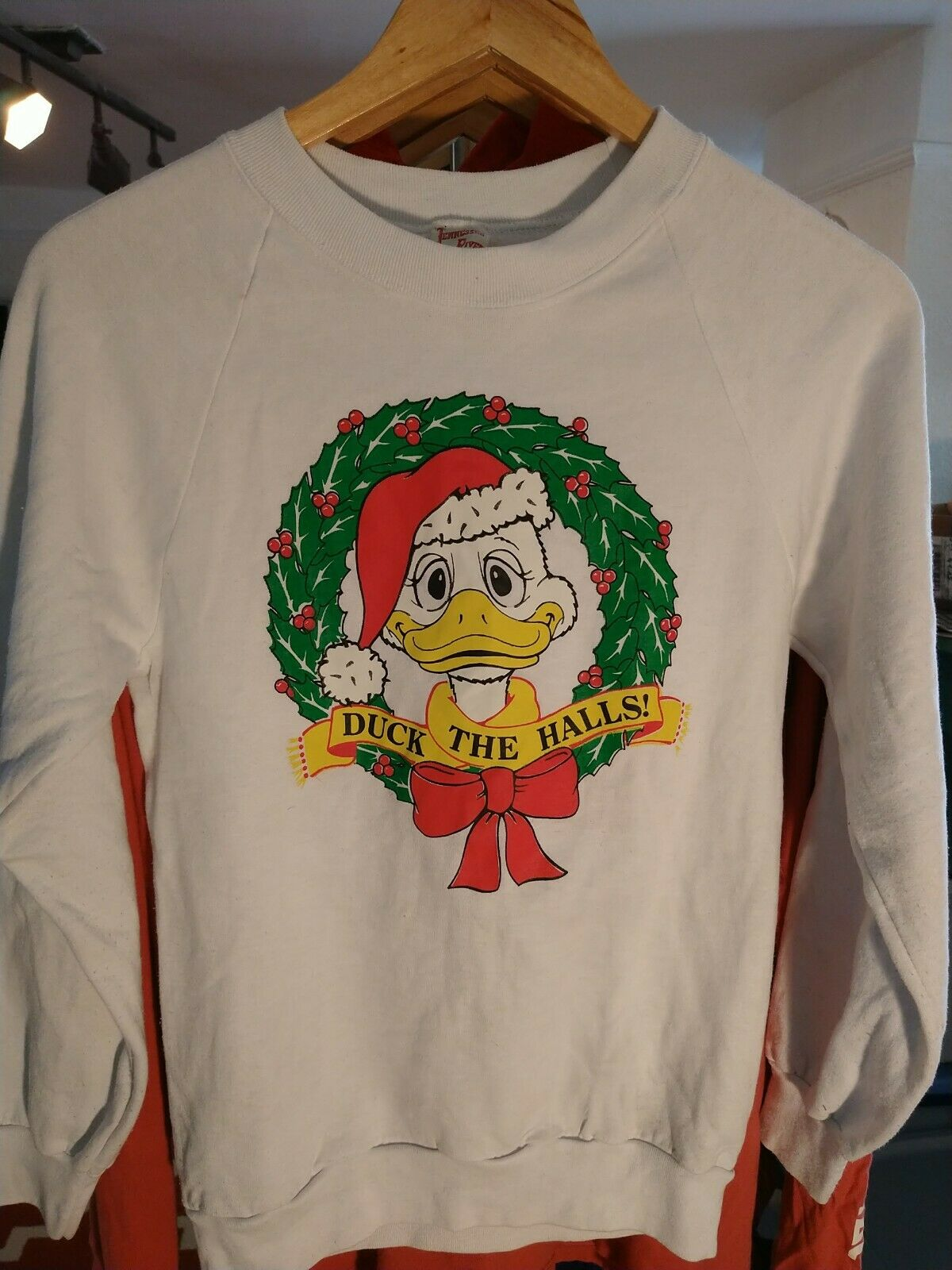 Vintage Duck The Halls Funny Holiday Sweatshirt Tennessee River Made In USA S