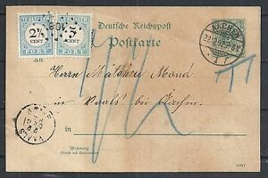 Reich covers 1892 DUE WanderPC NumberCANC 108=VAALS