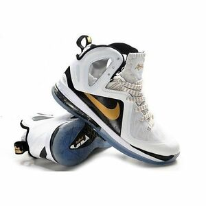 finest selection def2d 6efc1 Image is loading LEBRON-9-P-S-ELITE-516958-100-WHITE-METALLIC-