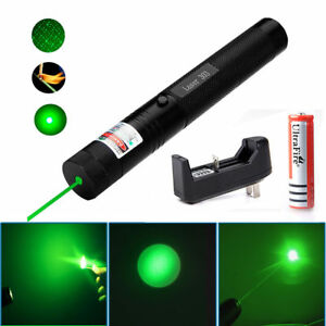10Miles-532nm-303-Green-Laser-Pointer-Lazer-Pen-Visible-Beam-Light-18650-Charger