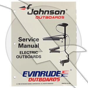 s l300 johnson evinrude electric trolling motor factory shop service repair