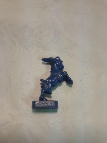 Vintage Henninger Brau & Meisterbock Goat Bottle Advertisements Blue
