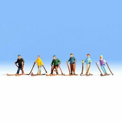 6 Figurines 15829 Mod/élisme Ferroviaire Skieurs Noch