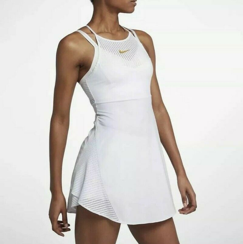 Atomic Pink Premier Maria Tennis Dress Women's Nike Maria Sharapova Sw19 Premier Tennis Dress XS White ...