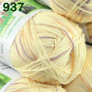 Sale-1-SkeinX50g-SUPER-Soft-Baby-Natural-Smooth-Bamboo-Cotton-Knitting-Yarn-937