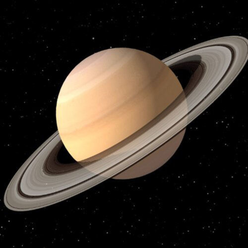 8x8 3D Lenticular Postcard Greeting Card Space Saturn