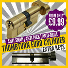 ANTI-SNAP EURO CYLINDER LOCK - THUMBTURN EURO CYLINDERS - EXTRA KEYS AVAILABLE