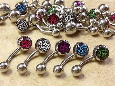 B#303 - 25pcs Leopard Print Belly Rings Navel naval Wholesale Body Jewelry