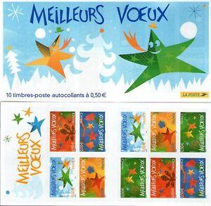CARNET-BC3722-MEILLEURS-VOEUX-2004-NEUF-NON-PLIE-LUXE