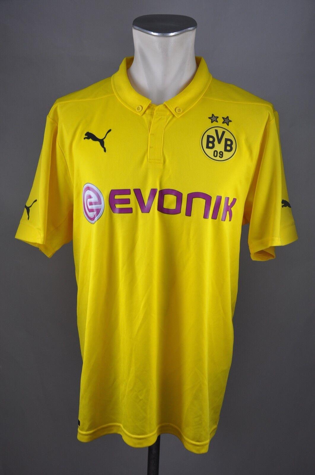 Borussia Dortmund BVB Champions League Trikot 17 L  17 Trikot Aubameyang 2014-2015  Puma 581035
