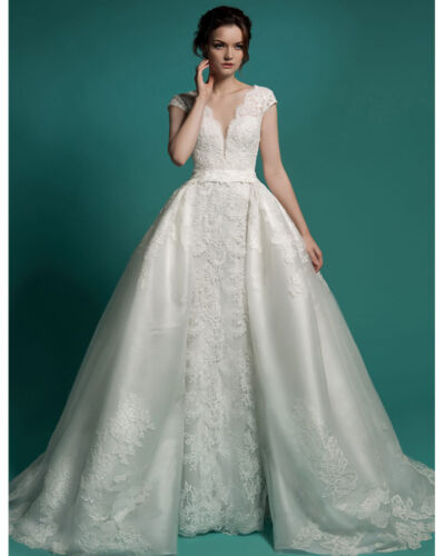 Neck 2 in1 Mermaid Wedding Dress Robe De Mariage Wedding Gowns Dress custom size