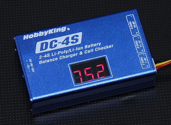 New DC-4S Balancer Charger 2S 7.4v 3S 11.1v 4S 14.8v 30w Lipo Checker Balance