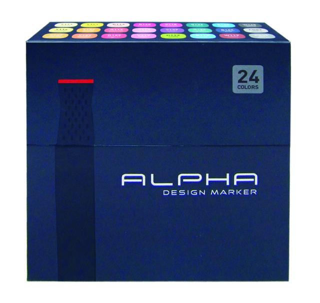 Graphic Art Marker Alpha Design Marker Double Tip 60A Colours Illustration