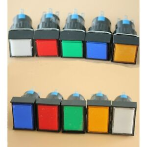 5V-12V-16mm-On-off-LED-Light-Momentary-Latching-Push-Button-Switch-NO-NC-5-Pin