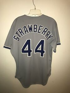 cheap for discount c7a1e d0fc2 Details about Vintage 1991 Darryl Strawberry Rawlings Dodgers away Jersey  Size 44