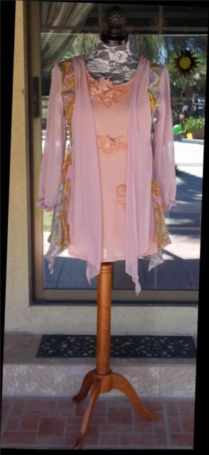 Pretty Angel Long Sleeve Layered Look Side Tie Tunic Or Dress Sz. S