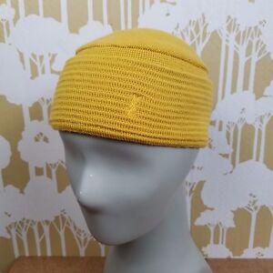 Rare Vintage YSL Yves Saint Laurent 70 s Yellow Wool Knit Cap Hat ... f90f18fa91f