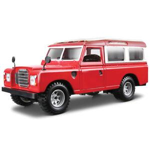 Red Land Rover Series 3 Utility LWB 109 Bburago 1:24 Scale Diecast Model Burago Auto, motor: onderdelen, accessoires