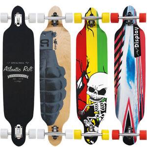 Longboard-Skateboard-Skate-Board-Komplettboard-ABEC-9-Holzboard-Streetsurfer
