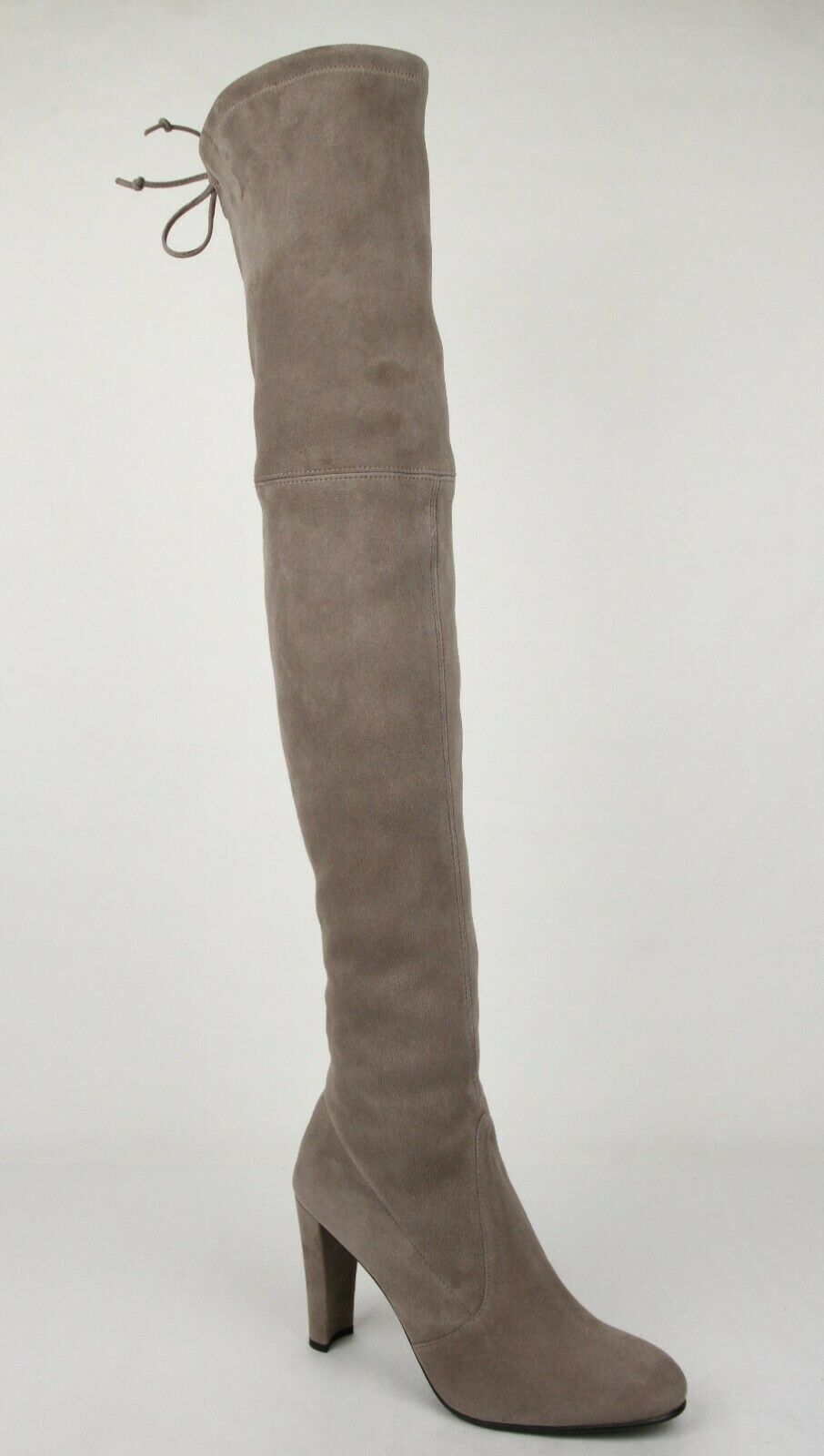 798 New Stuart Weitzman Women's Highland Taupe Suede Over-The-Knee Boots